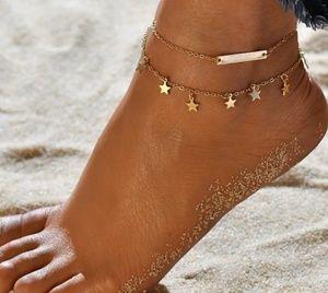 Jewelry - GOLDTONE STARS ANKLET